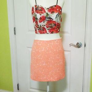 Alex+Alex peach mini skirt **like new!**